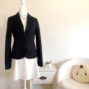 NEW! NWT Navy Blue One Button Fitted Blazer